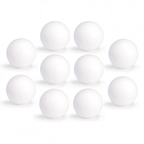 Pack 10 balles blanches plastique roberto sport