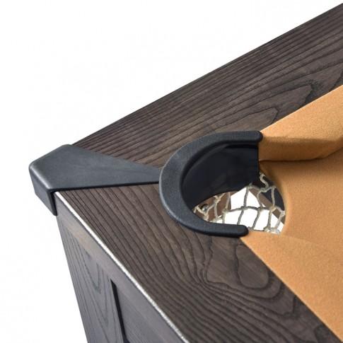 achat table 2 en 1 en bois fonce