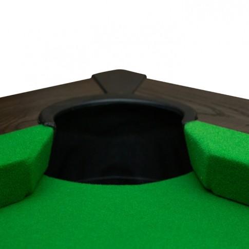 acheter table de billard en bois fonce rectangulaire