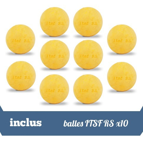 inclus 10 balles itsf rs