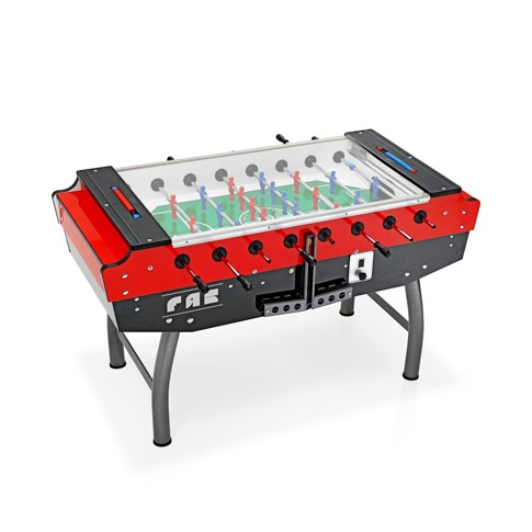 red and gray football table