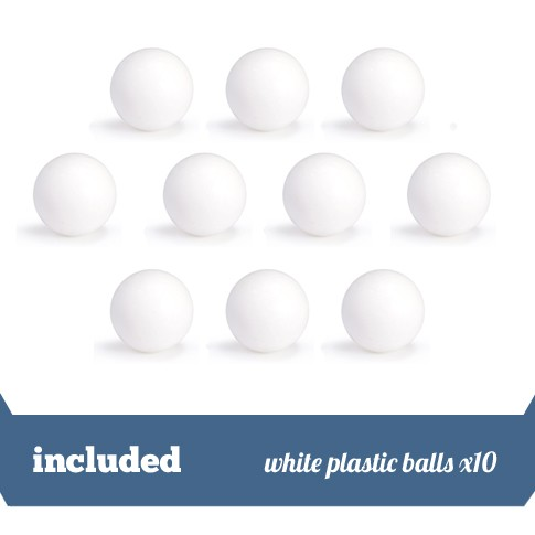 10 standard white balls Garlando