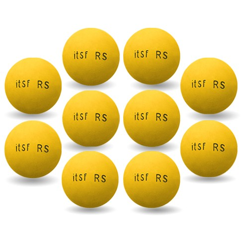 Roberto Sport yellow ITSF-RS balls pack of 10